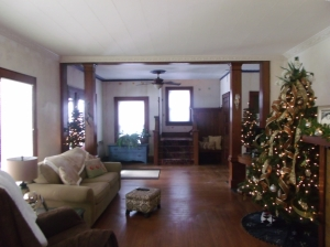 First Christmas at the house (in renovation mode)!