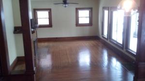 Front room floor.